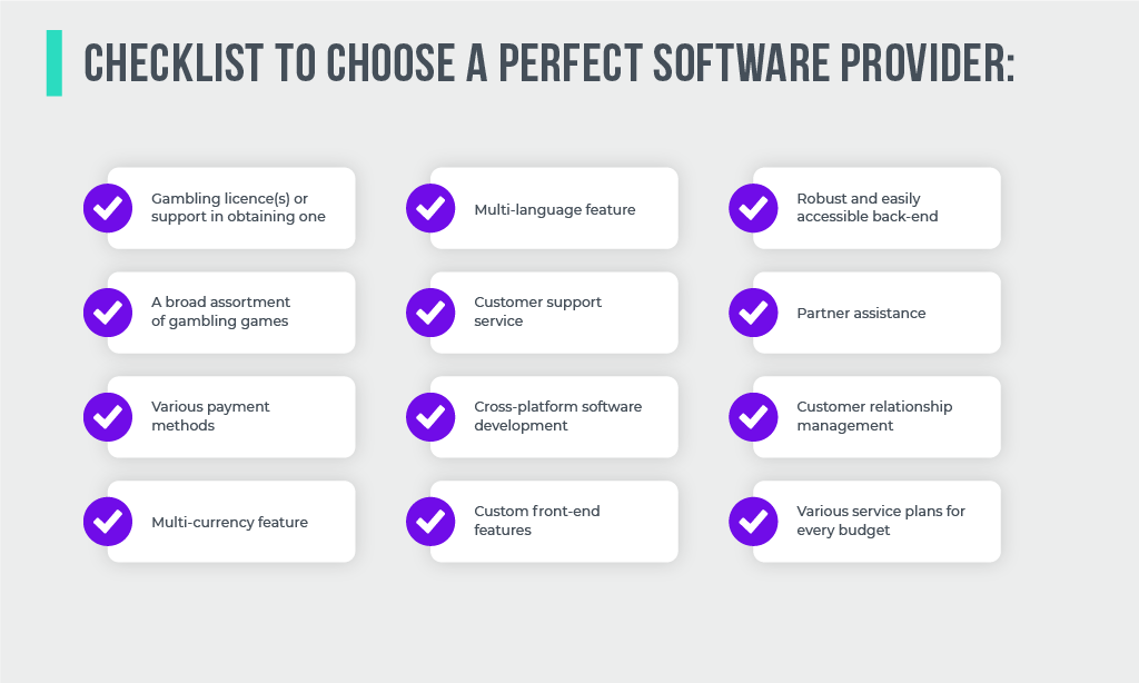 Checklist to chose a perfect Software Provider